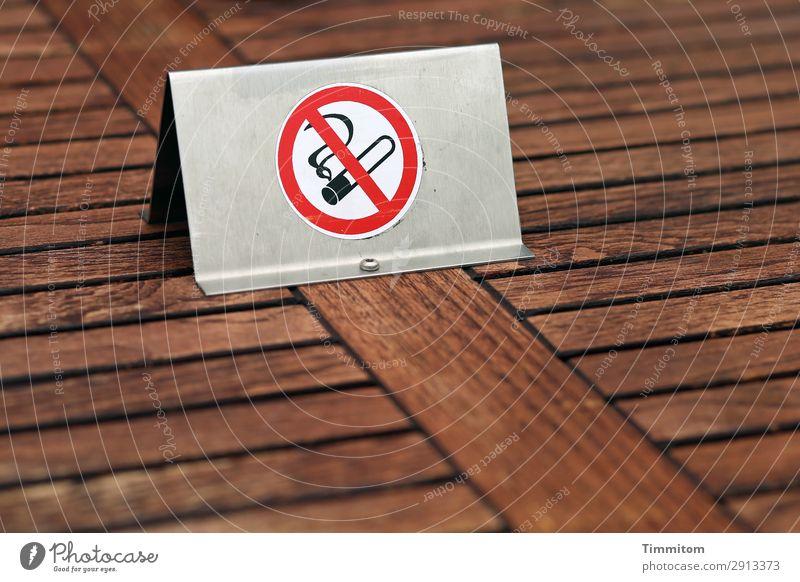 heiße Luft | nein! Tisch Verbotsschild Holz Metall Zeichen Schilder & Markierungen Hinweisschild Warnschild braun weiß Gesundheit Verbote Rauchen verboten