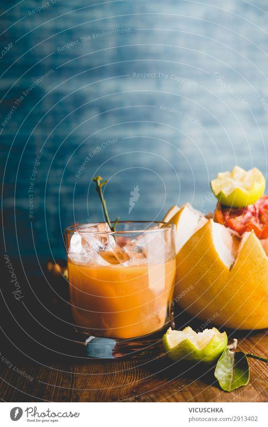 Zitrussaft im Glas Lebensmittel Frucht Orange Ernährung Frühstück Bioprodukte Vegetarische Ernährung Getränk Saft Stil Design Gesunde Ernährung Hintergrundbild