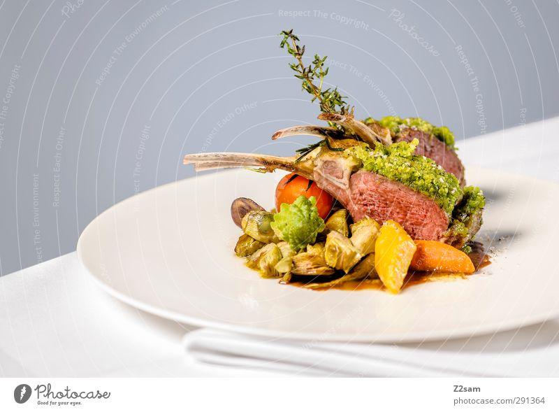 Lamm grau Stil Gesundheit natürlich elegant Ordnung modern frisch Design Ernährung ästhetisch Sauberkeit rein Kräuter & Gewürze Gemüse lecker