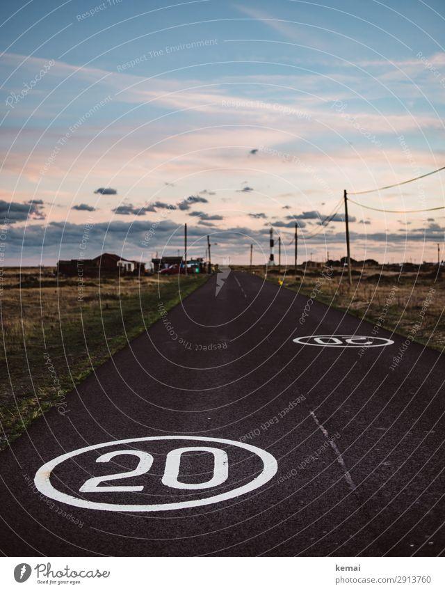 Straßen: Coastal road Himmel Ferien & Urlaub & Reisen Landschaft Erholung Wolken ruhig Ferne Freiheit Ausflug Zufriedenheit Freizeit & Hobby Verkehr Abenteuer
