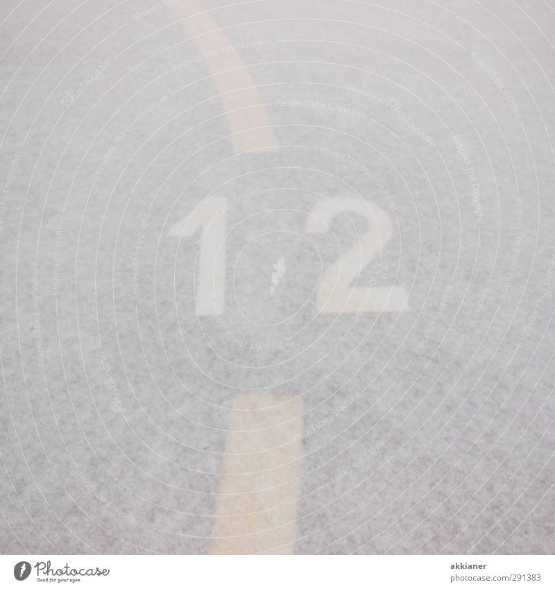 12 weiß Winter Schnee hell Eis Frost Ziffern & Zahlen Zeichen