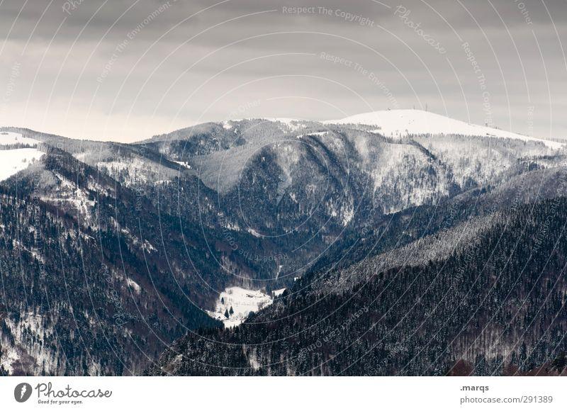 Feldberg Ferien & Urlaub & Reisen Tourismus Ausflug Abenteuer Winter Winterurlaub Umwelt Natur Landschaft Himmel Gewitterwolken Klima Eis Frost Schnee Baum Wald