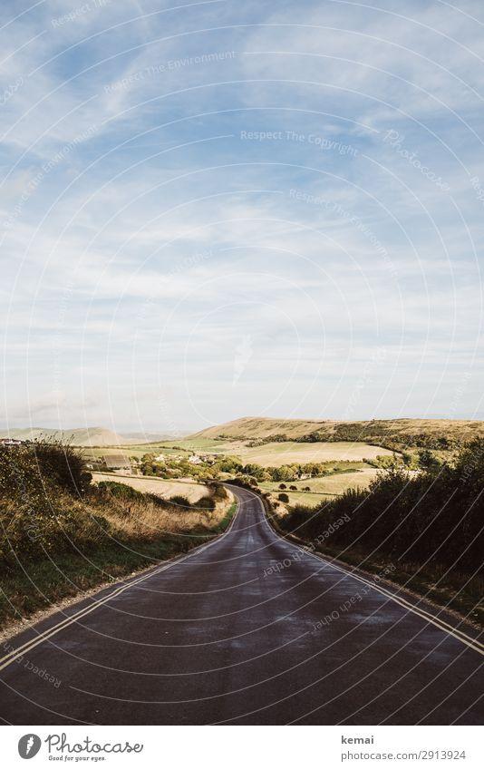 Straßen: B-Road harmonisch Wohlgefühl Sinnesorgane Erholung ruhig Freizeit & Hobby Ferien & Urlaub & Reisen Ausflug Abenteuer Ferne Freiheit Sommerurlaub