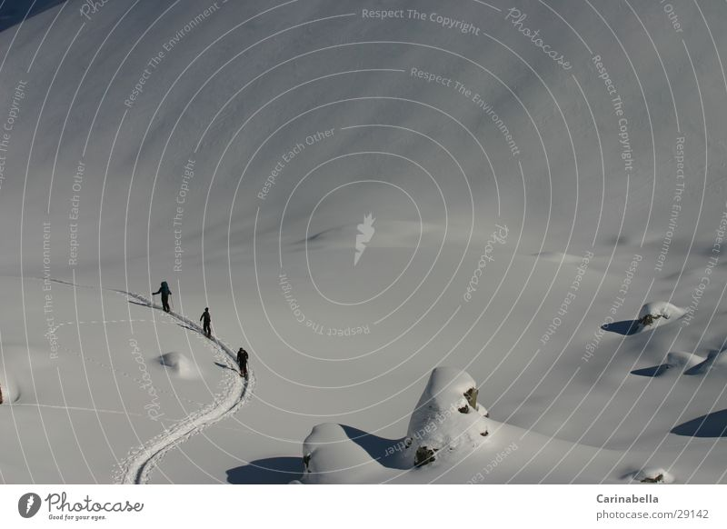 Schneewanderung Winter Sport Berge u. Gebirge wandern Schneewandern
