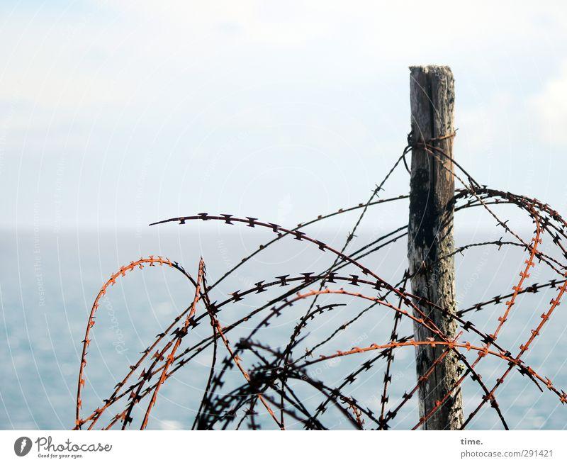 Störfaktor | ... Himmel Wasser Meer Tod Holz Küste Metall Kraft gefährlich Sicherheit Wandel & Veränderung bedrohlich Spitze Wut gruselig Vergangenheit
