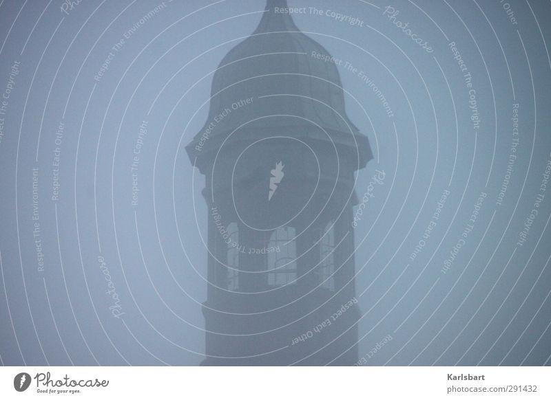 Schiefer Sturm im Nebelturm oder Schiefer Turm im Nebelsturm Fenster Architektur Religion & Glaube Gebäude Kunst Kirche Hoffnung Vergänglichkeit Trauer Bauwerk