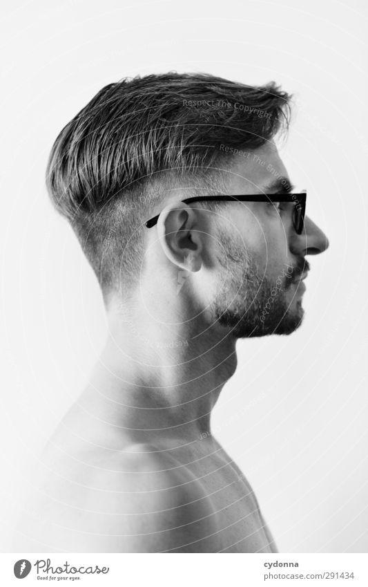 An und für sich Mensch Mann Jugendliche schön ruhig Gesicht Erwachsene Junger Mann Leben Haare & Frisuren Freiheit Kopf 18-30 Jahre Stil Gesundheit träumen