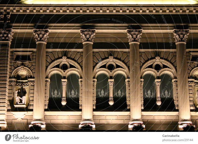 Bundeshaus Nacht Fenster Architektur Kanton Bern Beleuchtung Sandsteinmauer