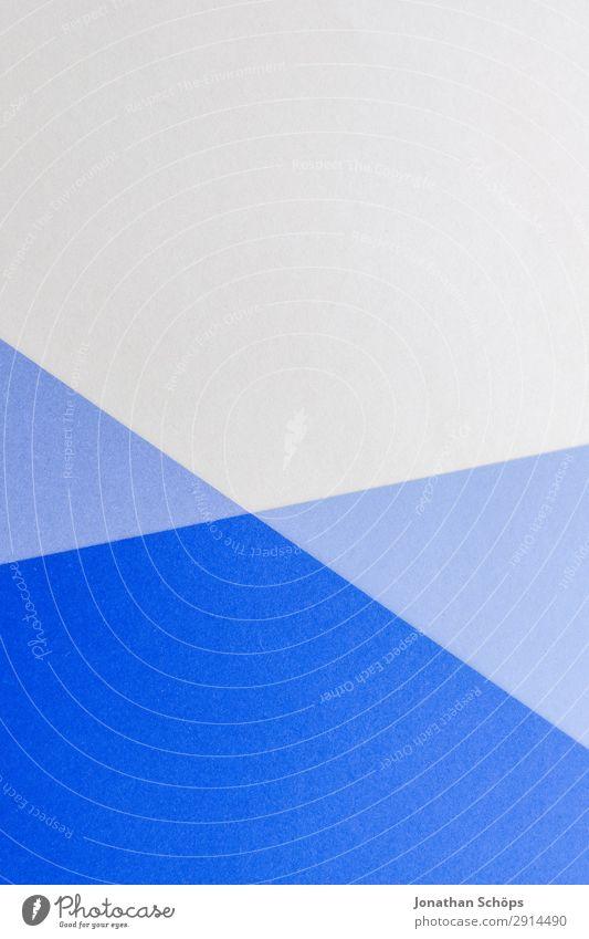grafisches Hintergrundbild aus Buntpapier Basteln Papier einfach blau weiß flach Geometrie graphisch Entwurf minimalistisch Karton Textfreiraum Farbe seriös