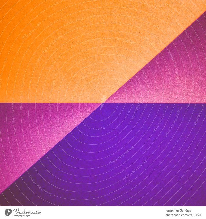 grafisches Hintergrundbild aus Buntpapier Basteln Papier einfach flach Geometrie graphisch Entwurf minimalistisch Karton Textfreiraum aufsteigen Trennung