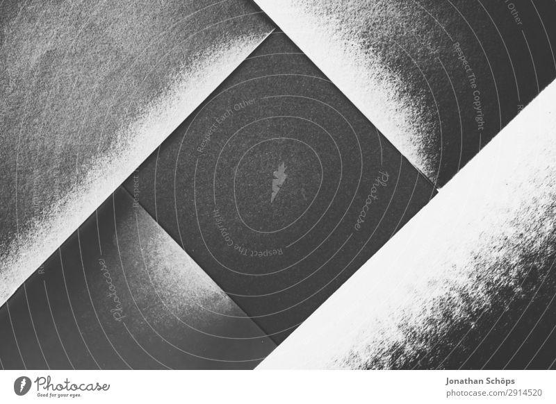 grafisches Hintergrundbild Schwarzweiß Textfreiraum leuchten Papier einfach Neigung graphisch eckig Quadrat Basteln Geometrie Rahmen Entwurf Karton