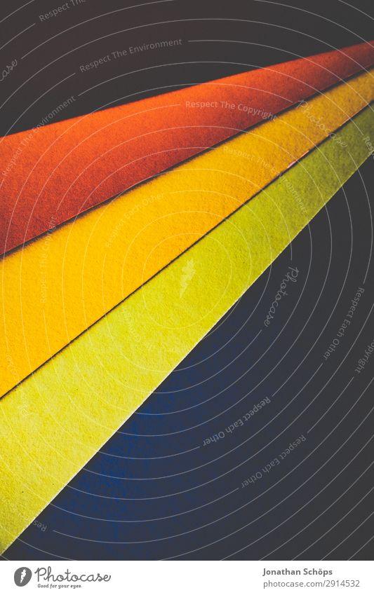 grafisches Hintergrundbild aus Buntpapier Basteln Kunst Papier einfach mehrfarbig gelb grün rot Rahmen flach Geometrie graphisch Entwurf minimalistisch orange