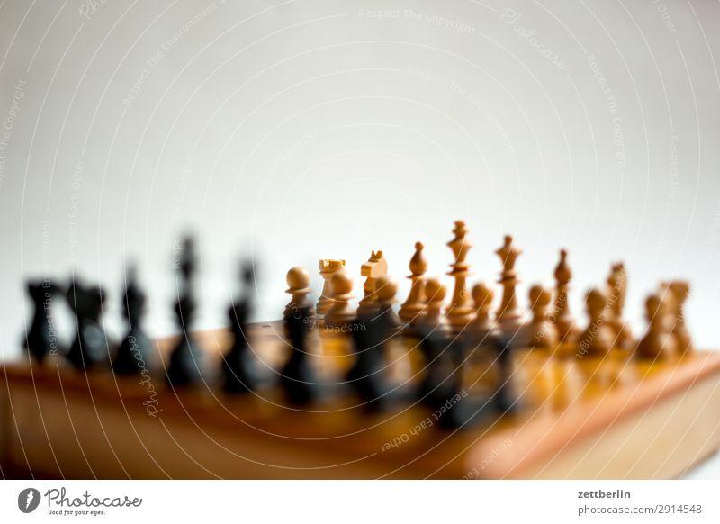 Schachspiel weiß schwarz Spielen Erfolg Beginn Hoffnung Landwirt kämpfen Spielfigur König Anordnung Problematik Schachbrett Schachfigur Spieler