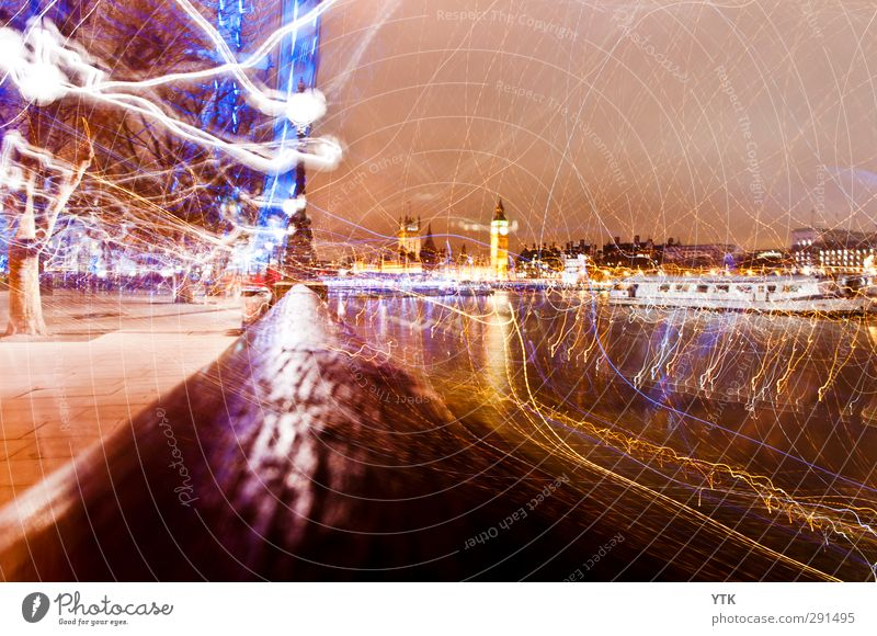 London Electric Ferien & Urlaub & Reisen Stadt Haus Bewegung Architektur Gebäude wild leuchten Ausflug fantastisch Bauwerk Denkmal Meinung Wahrzeichen