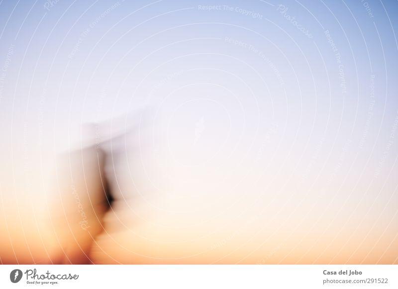 abstract walk Mensch blau Farbe schwarz gelb Gefühle Bewegung Freiheit träumen Stimmung außergewöhnlich orange Geschwindigkeit Warmherzigkeit ästhetisch
