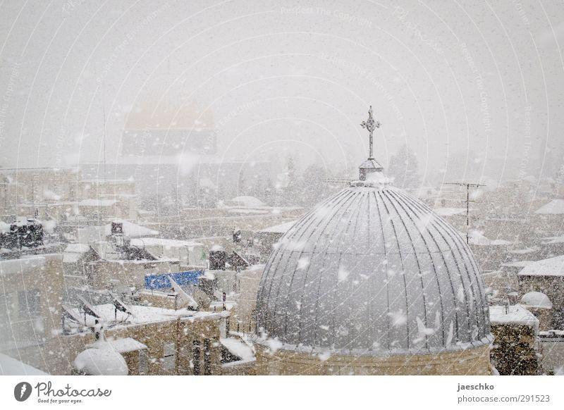 Alle Jubeljahre Winter Klima Klimawandel Wetter Unwetter Eis Frost Schnee Schneefall Ost-Jerusalem Israel Stadt Hauptstadt Stadtzentrum Altstadt Kirche Dom