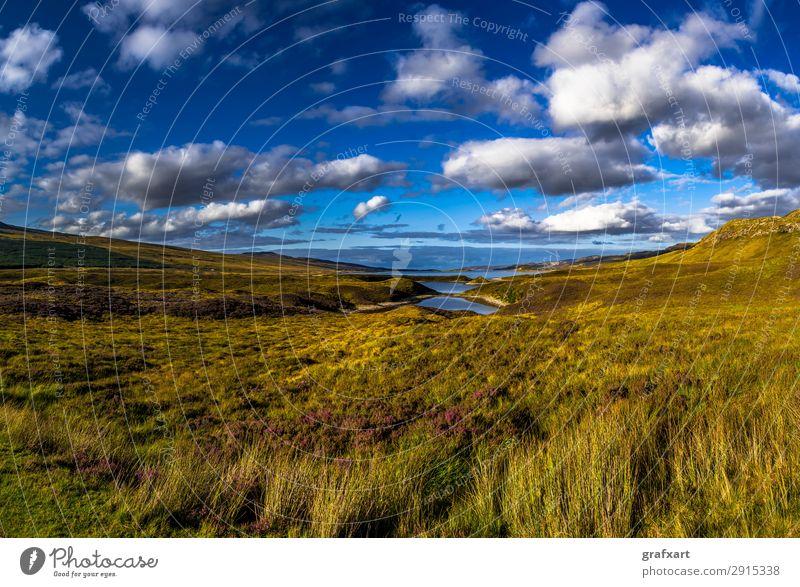 Malerische Landschaft bei Loch Eriboll in Schottland Himmel Natur Wasser Meer Blume Wolken Einsamkeit Reisefotografie Hintergrundbild Umwelt Küste Tourismus See