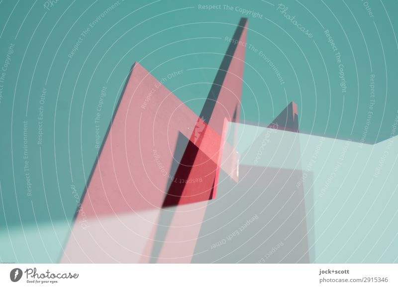 Kantig aus dem Rahmen gefallen Farbe grün Stil außergewöhnlich rosa Stimmung Design Metall modern Kraft Kreativität verrückt Ecke Wandel & Veränderung sportlich