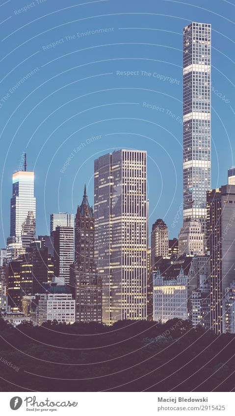 Manhattan Upper East Side bei Sonnenuntergang, NYC. Lifestyle kaufen Reichtum elegant Ferien & Urlaub & Reisen Sightseeing Städtereise Häusliches Leben Wohnung