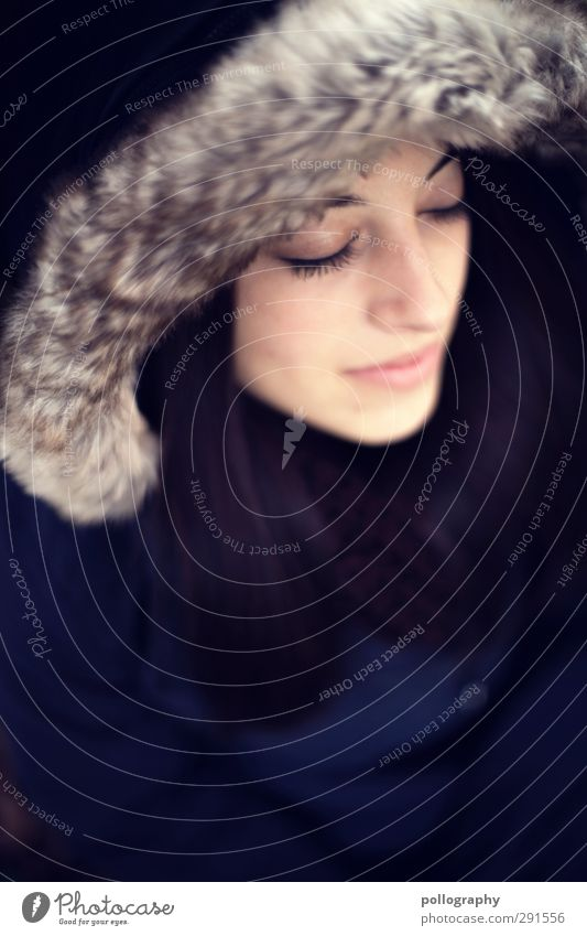 dream about (10) Mensch Frau Jugendliche schön ruhig Gesicht Erwachsene Junge Frau Leben feminin Gefühle Haare & Frisuren Glück 18-30 Jahre Mode träumen