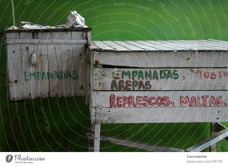 Küche grün obskur Kiste Venezuela Holzkiste