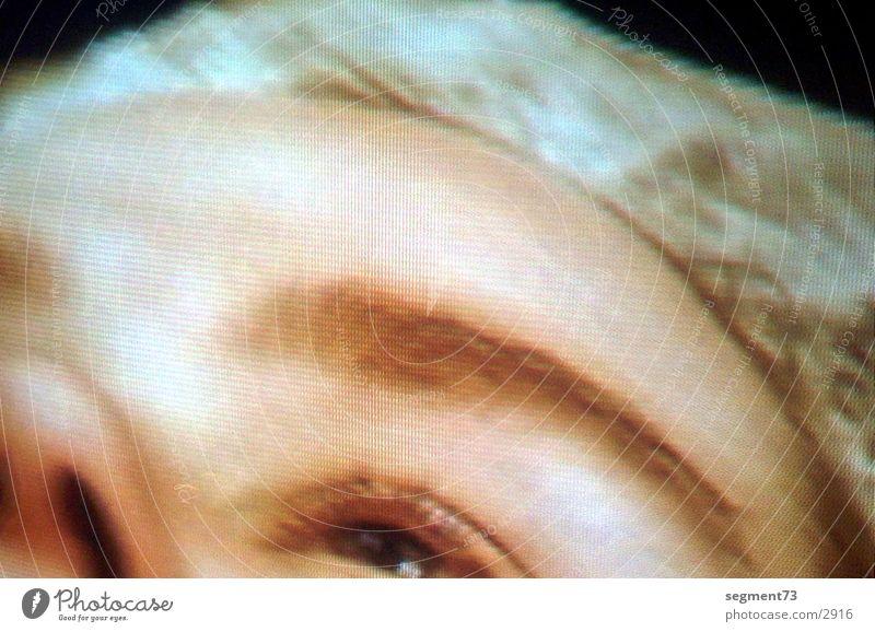 TV-Eye Mensch Auge Fernsehen