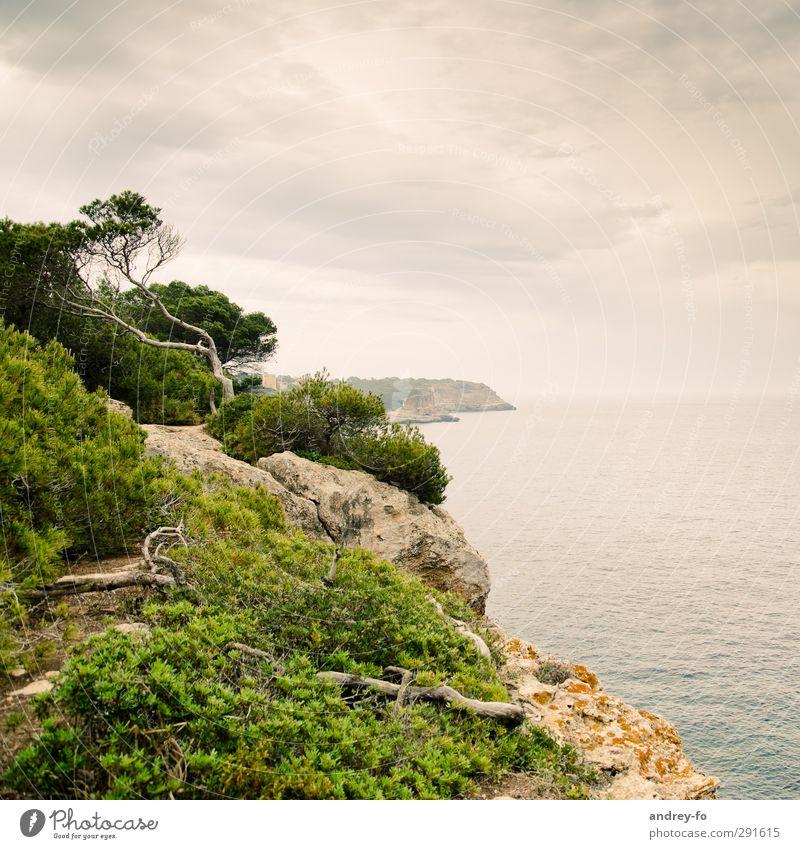 Küste Himmel Natur Ferien & Urlaub & Reisen Wasser Sommer Baum Meer Wolken Landschaft Erholung Ferne Umwelt Berge u. Gebirge Freiheit Stein
