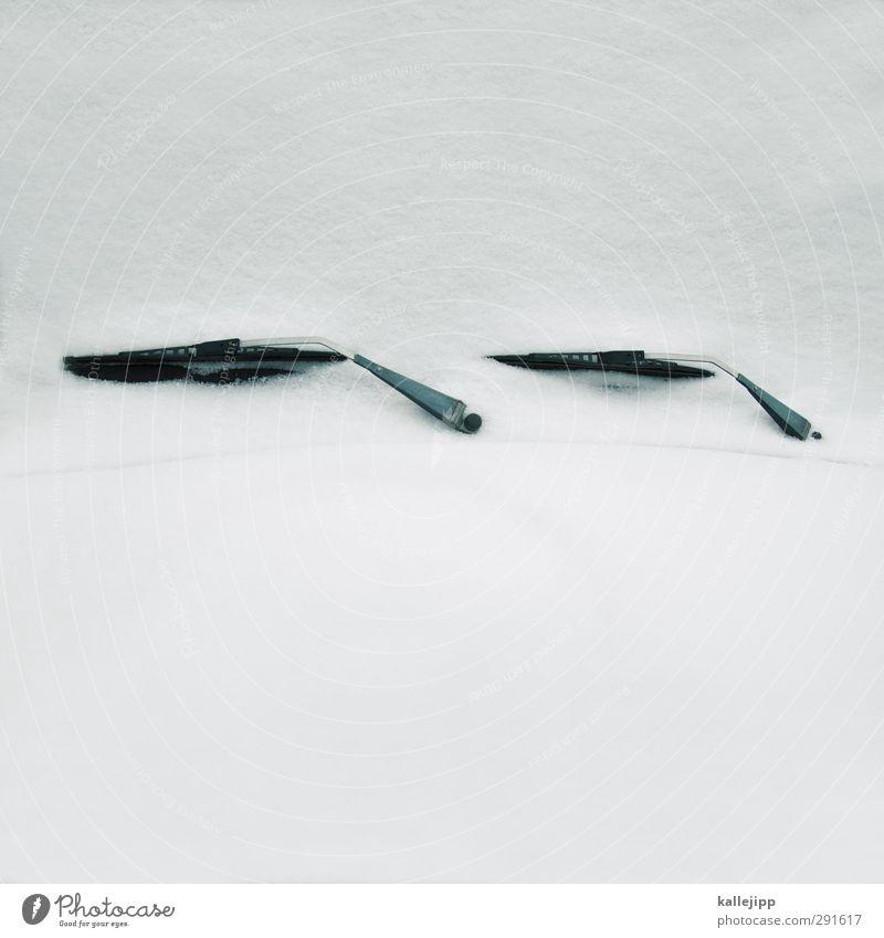 schneeblind Technik & Technologie Verkehr Verkehrsmittel Autofahren Fahrzeug PKW weiß Winter Blindflug Scheibenwischer Windschutzscheibe Eis Frost Schneedecke