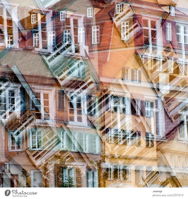 Tübingen² Lifestyle elegant Stil Kunst Altstadt Haus Gebäude Architektur Fassade Fenster Zeichen Häusliches Leben außergewöhnlich verrückt mehrfarbig chaotisch