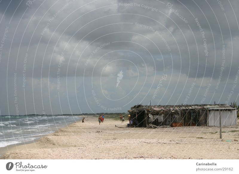 La Restinga Meer Strand Wolken Kuba Baracke Venezuela
