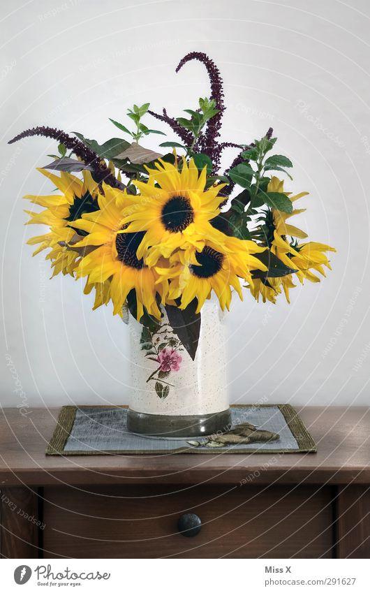 Ich brauch mehr Sommer Dekoration & Verzierung Blume Blatt Blüte Blühend Duft gelb Sonnenblume Blumenstrauß Tischdekoration Landhaus Landhausstil Tischwäsche