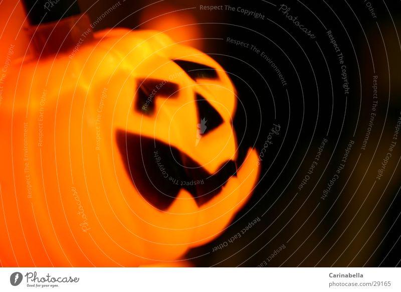 Fratzerl Gesicht Lampe orange Halloween Kürbis Gemüse