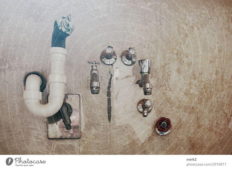 Verstopfung ruhig Wand Mauer Zusammensein Metall warten Küche Gelassenheit Kunststoff geduldig Wasserhahn Abfluss Knick Abflussrohr
