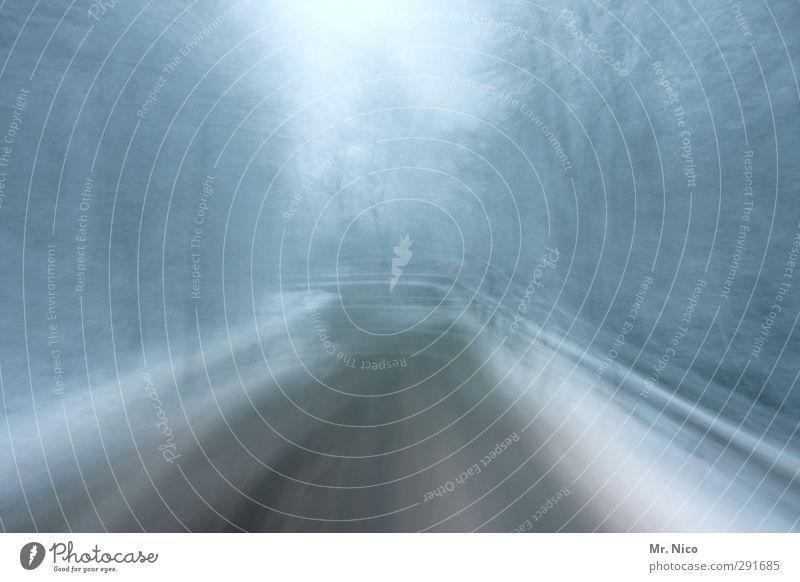 auf wintersehen II Natur Einsamkeit Winter Wald Umwelt kalt Straße Schnee Wege & Pfade Eis Klima Geschwindigkeit Frost Verkehrswege Kurve Autofahren