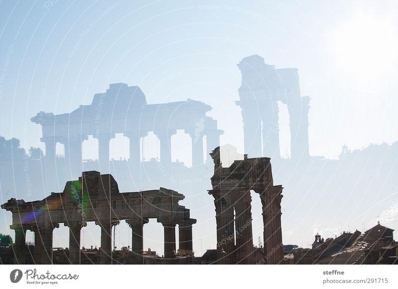 Nah an der Sonne gebaut Sonnenlicht Schönes Wetter Rom Italien Hauptstadt Altstadt Ruine Bauwerk Sehenswürdigkeit Forum Romanum ästhetisch Doppelbelichtung