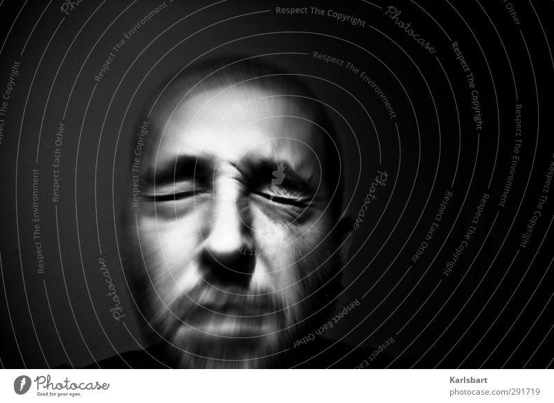 schmerz. Mensch Mann Einsamkeit Erwachsene Leben Traurigkeit Gefühle Senior Kopf maskulin Angst Schmerz Bart Stress Irritation Verzweiflung