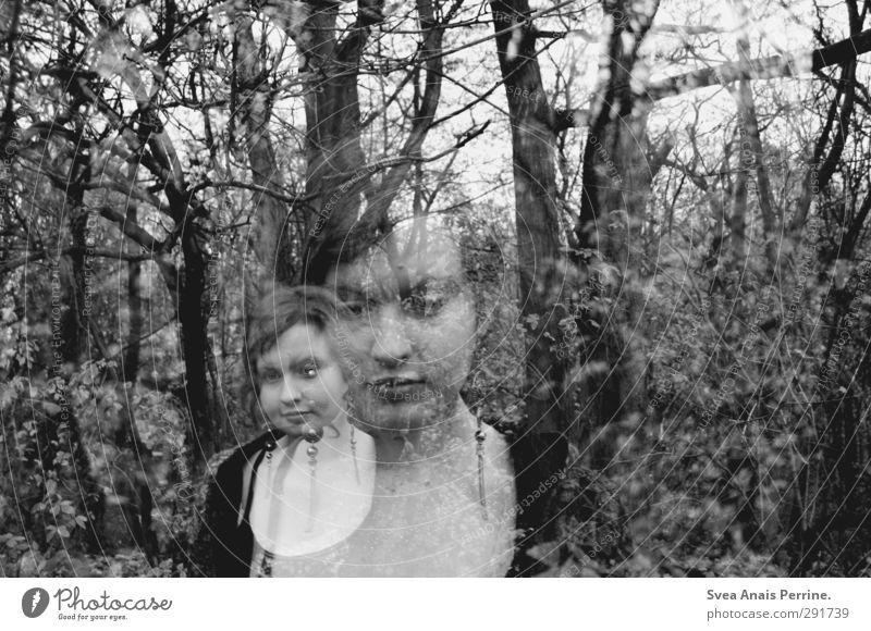 die gespenster der vergangenheit. feminin Junge Frau Jugendliche Kopf Haare & Frisuren 1 Mensch 13-18 Jahre Kind Umwelt Natur Herbst Schönes Wetter Baum