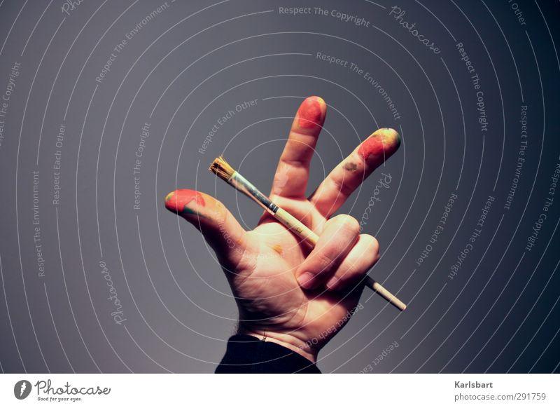 3 auf einen Streich Hand Freude Spielen Schule Wohnung Freizeit & Hobby Design Lifestyle Häusliches Leben lernen 3 Wandel & Veränderung malen Ziffern & Zahlen Kreativität Zeichen