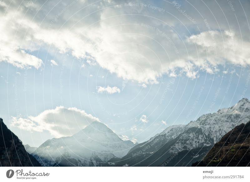 Gotthard Himmel Natur blau weiß Winter Umwelt Berge u. Gebirge kalt Schnee Alpen
