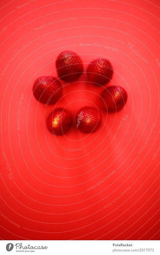 #A# ErdbeerRunde Kunst ästhetisch rot Erdbeeren Erdbeereis Erdbeermarmelade Erdbeerjoghurt Vegetarische Ernährung Vegane Ernährung Gesunde Ernährung Farbfoto