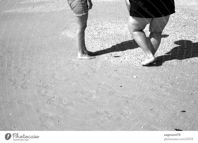 American Legs Strand Amerika Mensch Schwarzweißfoto Beine