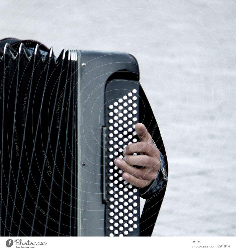///|:::<) Hand Finger 1 Mensch Künstler Veranstaltung Musik Open Air Musiker Akkordeon Akkordeonspieler Musikinstrument knopfakkordeon Musik hören Spielen