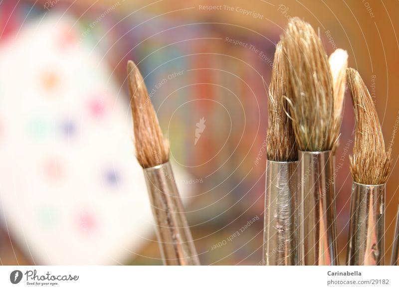 Pinsel Farbe streichen Handwerk Wasserfarbe