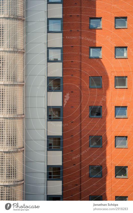 orange Hochhausfassade in Leeds, England Haus Bankgebäude Bauwerk Gebäude Architektur Fassade ästhetisch Schatten Fenster Häusliches Leben Büro Großbritannien