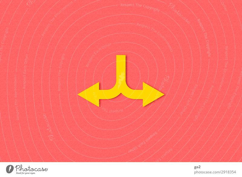 Wo lang? Güterverkehr & Logistik Karriere sprechen Zeichen Schilder & Markierungen Hinweisschild Warnschild Pfeil einfach gelb Beginn Zufriedenheit