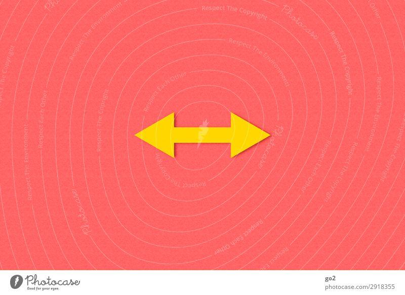 Links oder Rechts Wege & Pfade Freiheit Zufriedenheit Kommunizieren ästhetisch Schilder & Markierungen Hinweisschild einfach Zeichen planen Ziel Richtung Pfeil