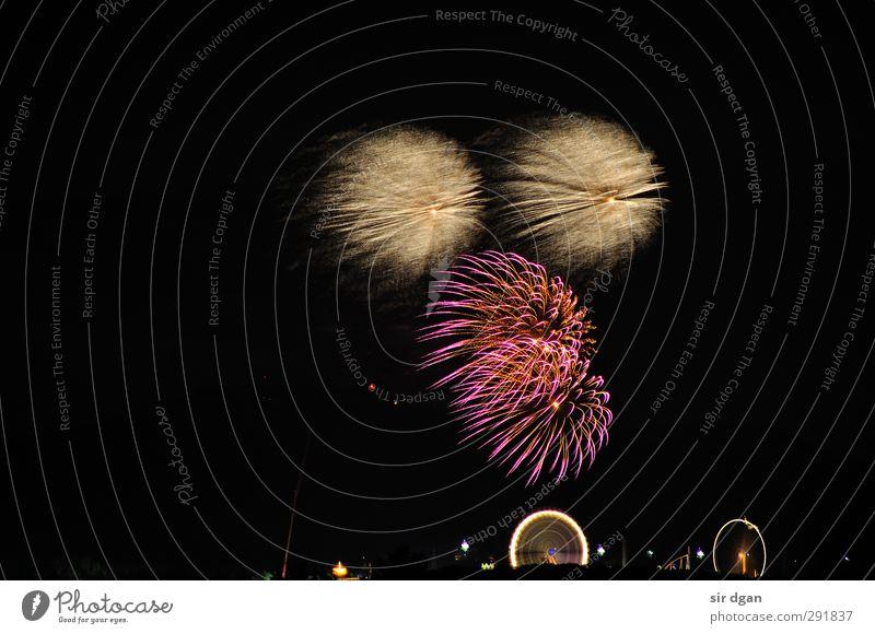 Feuerwerk Freude Nachtleben Party Feste & Feiern Jahrmarkt Veranstaltung Show Blick fantastisch groß heiß Stimmung bizarr Freizeit & Hobby Farbfoto