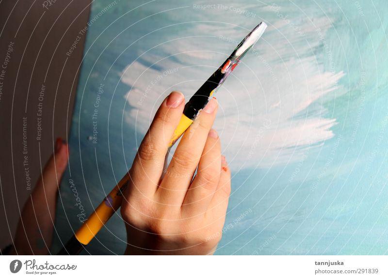 Kunstzeit Design schön Freizeit & Hobby Handwerk Arme 1 Mensch 18-30 Jahre Jugendliche Erwachsene Papier zeichnen frei frisch Farbe Kreativität Malerei Bild