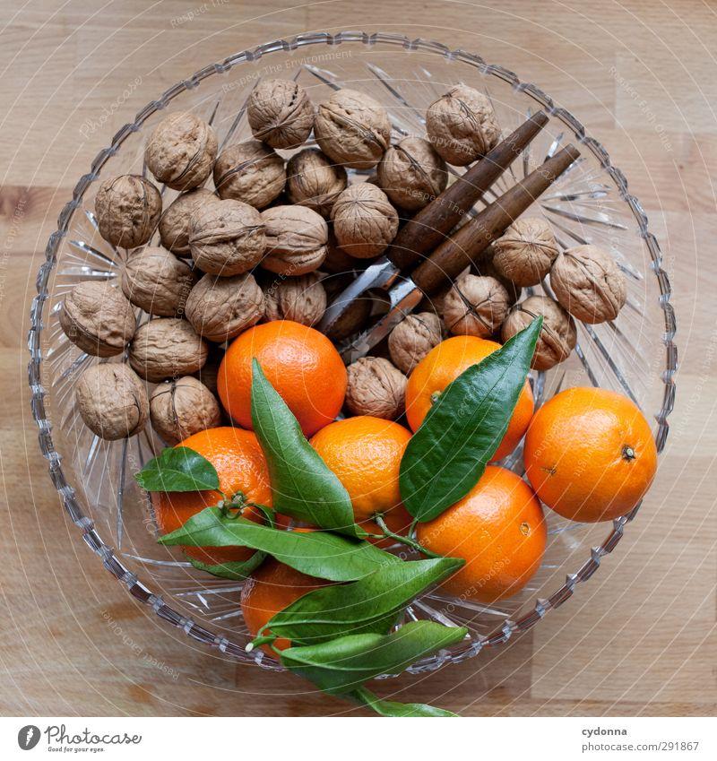 Knackig frisch Weihnachten & Advent schön Blatt Winter Leben Gesunde Ernährung Gesundheit orange Lebensmittel Frucht Orange frisch Dekoration & Verzierung Ernährung ästhetisch genießen