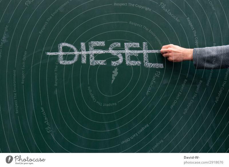 Dieselverbot Wissenschaften Schule lernen Tafel Mensch Leben Hand Finger Kunst Umwelt Luft Klima Klimawandel Verkehr Verkehrsmittel Verkehrswege Berufsverkehr